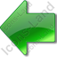 Arrow Left Green Icon