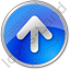 Arrow Up Circle Blue Icon, PNG/ICO, 64x64