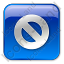 Cancel Box Blue Icon