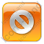 Cancel Box Orange Icon, PNG/ICO, 64x64