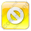 Cancel Box Yellow Icon, PNG/ICO, 64x64