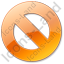 Cancel Orange Icon, PNG/ICO, 64x64