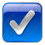 Checked Box Blue Icon, PNG/ICO, 64x64