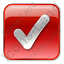 Checked Box Red Icon