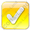 Checked Box Yellow Icon, PNG/ICO, 64x64