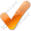 Checked Orange Icon, PNG/ICO, 64x64