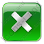 Close Box Green Icon, PNG/ICO, 64x64