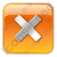 Close Box Orange Icon, PNG/ICO, 64x64