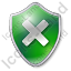 Close Shield Green Icon