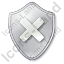 Close Shield Grey Icon
