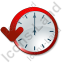 Clock Delay Icon, PNG/ICO, 64x64