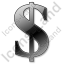 Dollar Black Icon