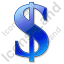 Dollar Blue Icon