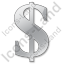 Dollar Grey Icon