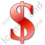 Dollar Red Icon
