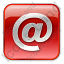 EMail Box Red Icon, PNG/ICO, 64x64