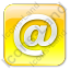 EMail Box Yellow Icon