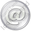 EMail Circle Grey Icon, PNG/ICO, 64x64