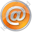 EMail Circle Orange Icon