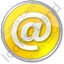 EMail Circle Yellow Icon