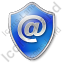 EMail Shield Blue Icon