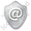 EMail Shield Grey Icon