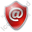 EMail Shield Red Icon