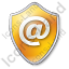 EMail Shield Yellow Icon