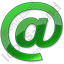 EMail Green Icon, PNG/ICO, 64x64