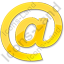 EMail Yellow Icon, PNG/ICO, 64x64