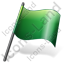 Flag 2 Green Icon
