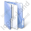 Folder File Blue Icon, PNG/ICO, 64x64