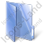 Folder Opened Blue Icon, PNG/ICO, 64x64