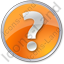 Help Circle Orange Icon, PNG/ICO, 64x64