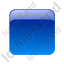 Indicator Box Blue Off Icon, PNG/ICO, 64x64