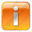 Info Box Orange Icon, PNG/ICO, 64x64