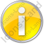 Info Circle Yellow Icon, PNG/ICO, 64x64