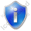 Info Shield Blue Icon, PNG/ICO, 64x64