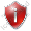 Info Shield Red Icon, PNG/ICO, 64x64