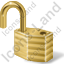 Lock Unlocked Yellow Icon