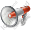 Megaphone Red Icon