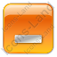 Minimize Box Orange Icon