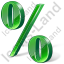 Percent 3D Green Icon