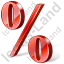 Percent 3D Red Icon