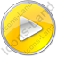 Play Yellow Icon, PNG/ICO, 64x64