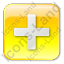 Plus Box Yellow Icon