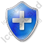 Plus Shield Blue Icon