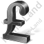 Pound Sterling 3D Black Icon