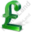 Pound Sterling 3D Green Icon