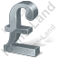 Pound Sterling 3D Grey Icon